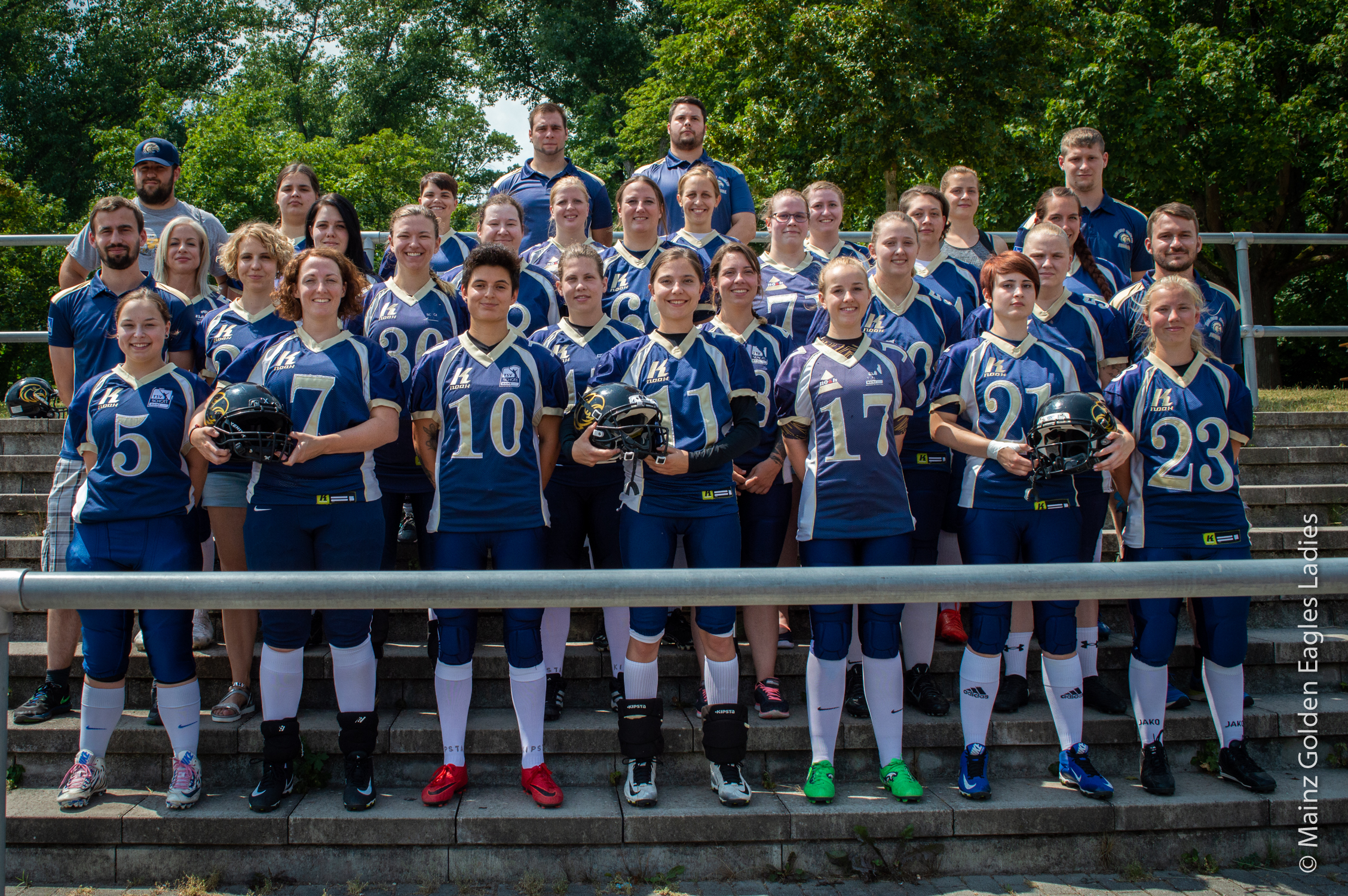 Teamfoto Mainz Golden Eagles Ladies 2018