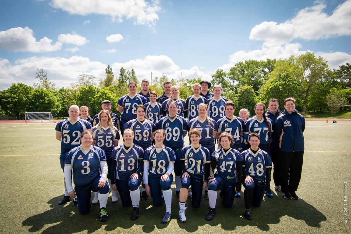 Teamfoto Mainz Golden Eagles Ladies 2019
