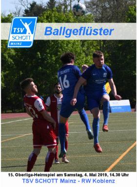 Stadionzeitung zum Heimspiel gegen RW Koblenz
